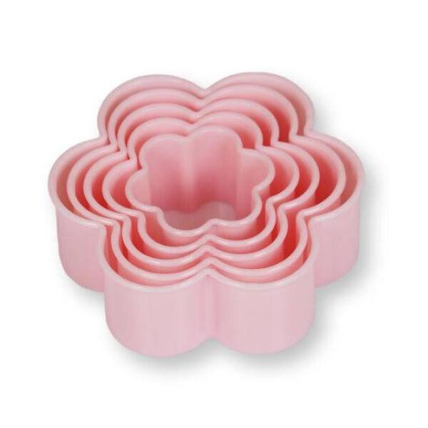 Virágos sütikiszúró készlet