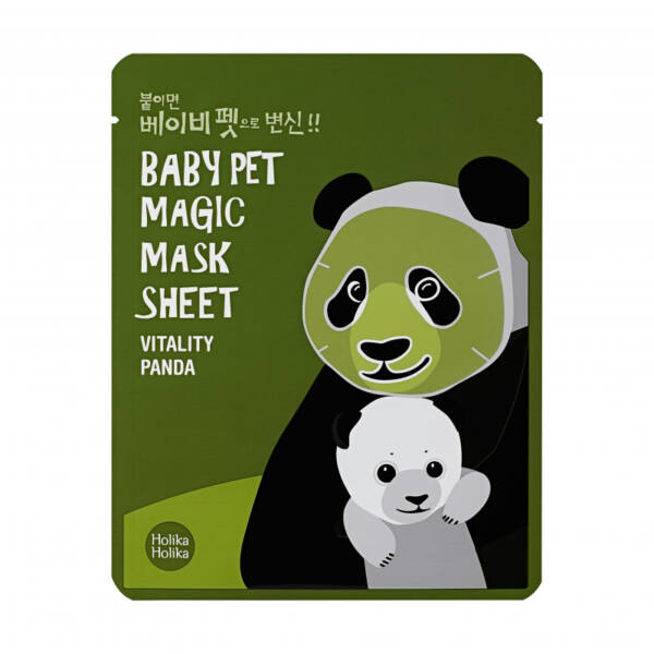 Baby Pet Magic Mask Sheet - A panda